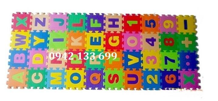 Thảm cho bé Mini Chữ Số 15x15cm